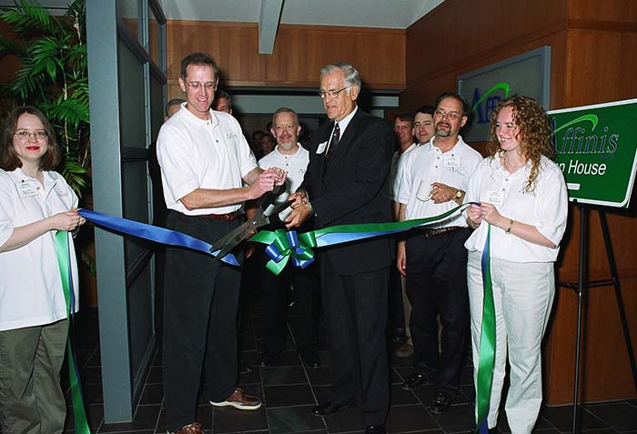 office ribbon cutting